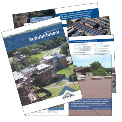 MAC Roofing refurbishment brochure